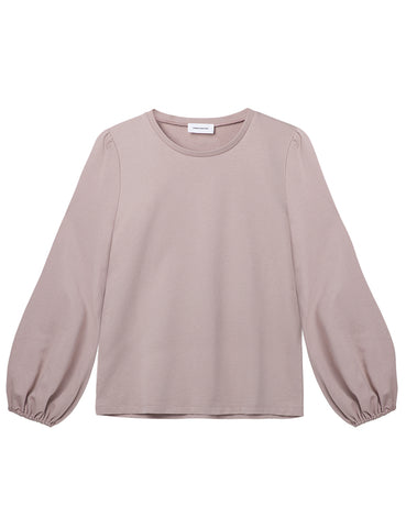 Organic Cotton Balloon Sleeve Sweatshirt - Stone