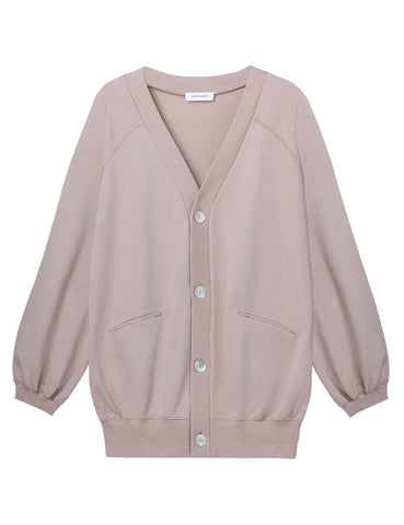 Organic Cotton Oversized Cardigan - Stone