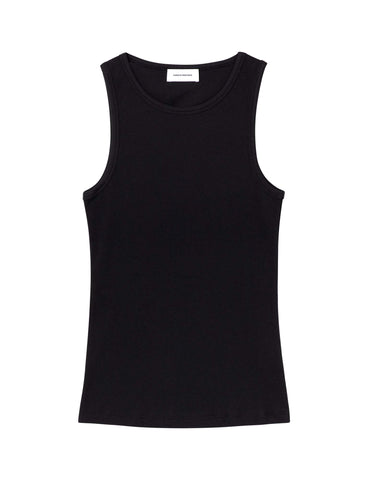 Organic cotton ribbed Tank- Black