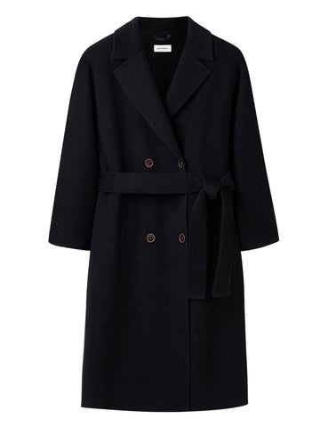 Cashmere Long Together Coat - Black
