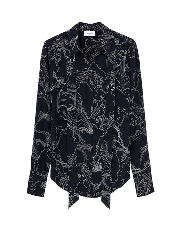 Perfect Silk Shirt - world print