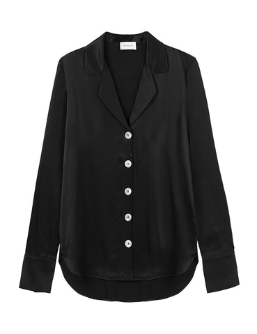 Relaxed Silk Shirt - Black