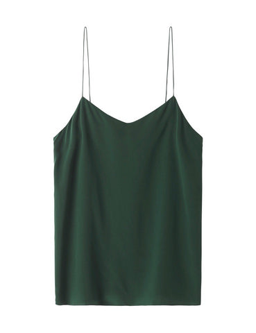 The Perfect Silk Camisole - racing green