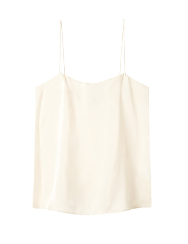 Relaxed Silk Camisole - Ivory Satin