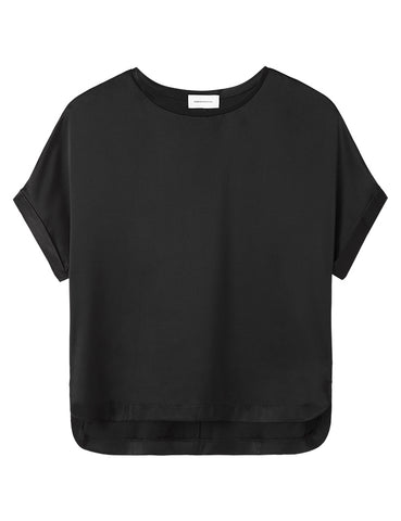 Relaxed T-Shirt - Black Satin
