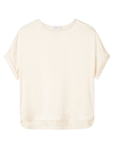 Relaxed T-Shirt - Ivory Satin