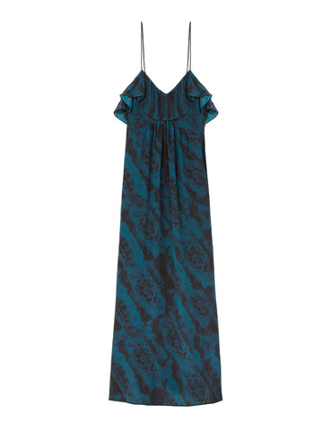 Silk Resort Dress - Como Sky