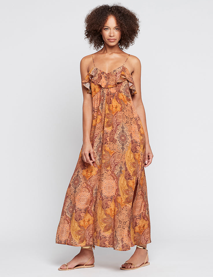 Silk Resort Dress - Persian Rug CDC