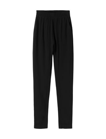 Silk Slouch Pant - black