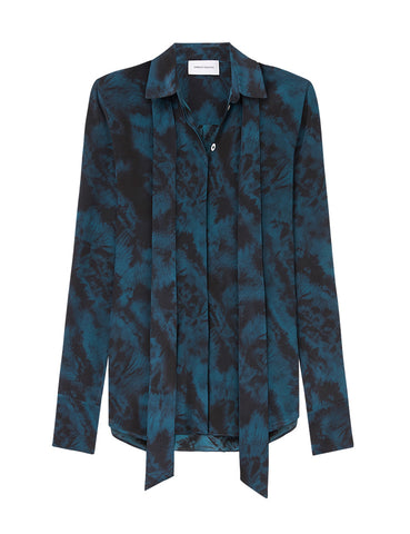 Perfect Silk Shirt - Como Sky