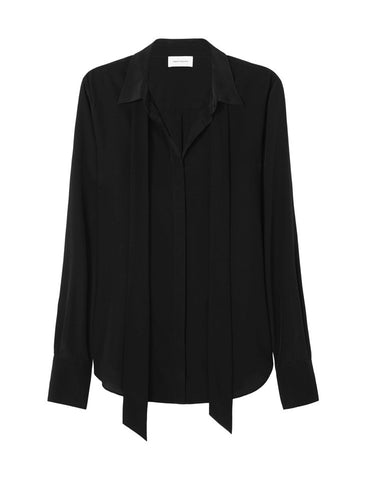 The Perfect Silk Shirt with optional necktie - Black