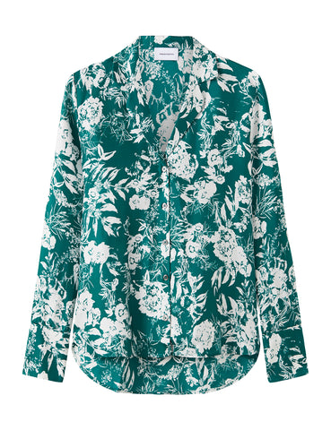 Relaxed Silk Shirt - Hydrangea Green