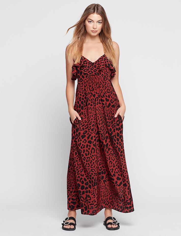 Silk Resort Dress - True Blood Leopard