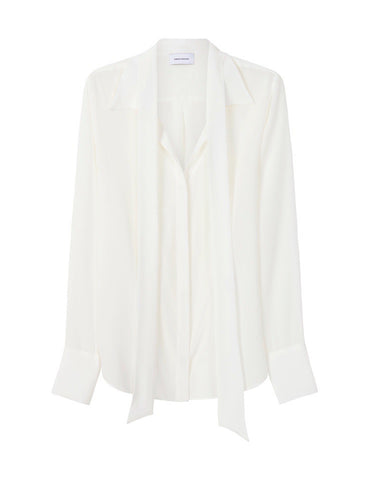 The Perfect Silk Shirt with optional necktie - Natural White