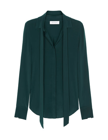 Perfect Silk Shirt - Ocean Green