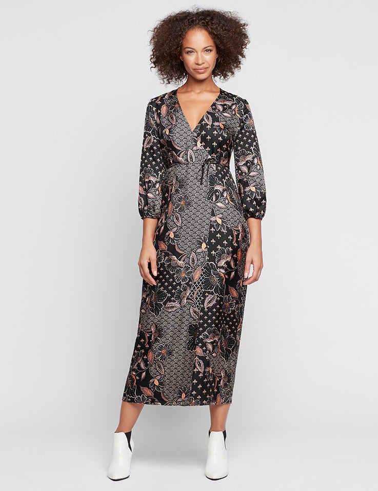 Silk Maxi Wrap Dress - Kalani