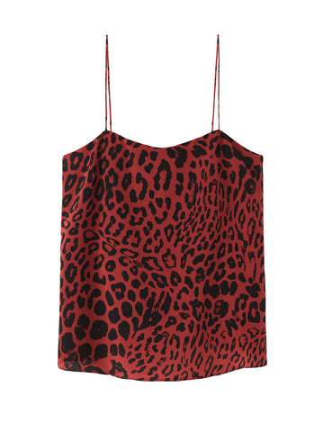 Relaxed Silk Camisole - true blood leopard