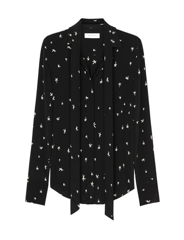 Perfect Silk Shirt - Random Star Black