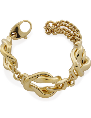 Mineraleir - Entwined bracelet- gold plated on sterling silver