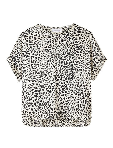 Relaxed T-Shirt - New Leopard White