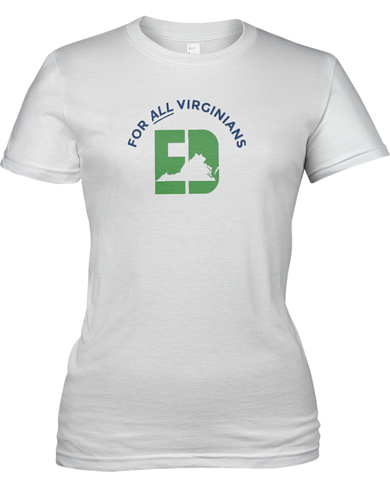 For ALL Virginians T-Shirt - White