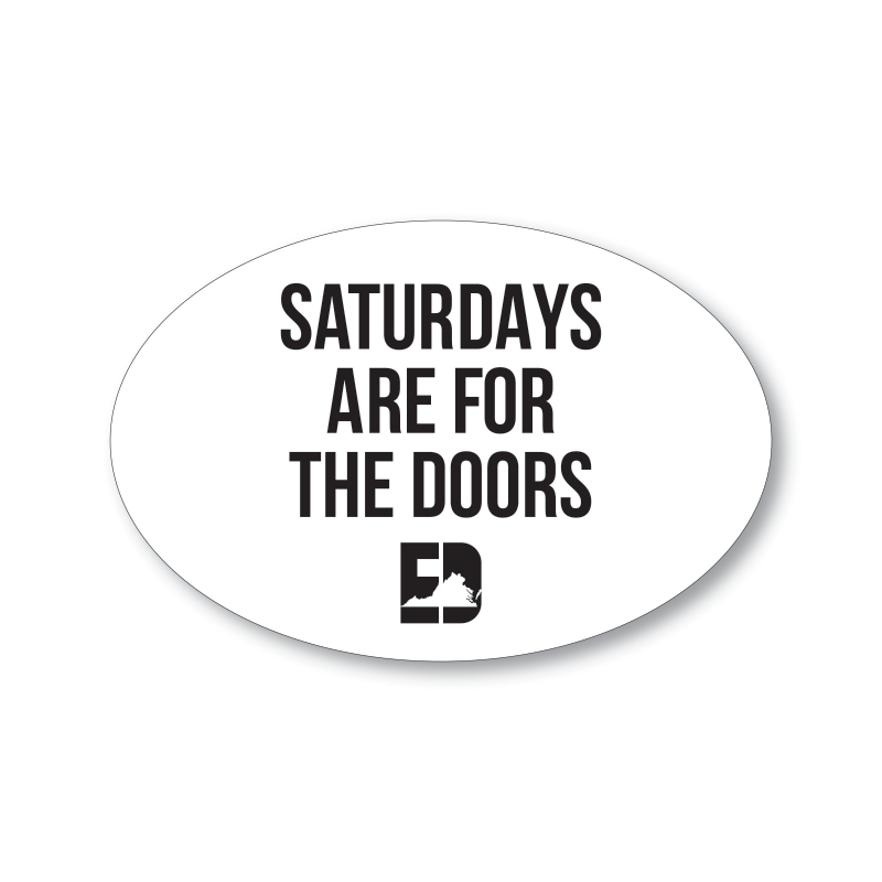 Saturdays Are For The Doors Car Magnet