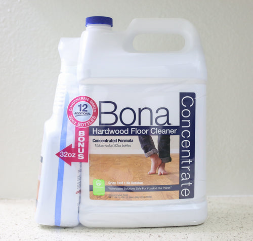 Bona Hardwood Floor Cleaner Refill Concentrate 128 FL OZ + Spray Bottle FILLED 32 FL OZ