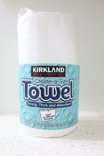 Strong, Thick, and Absorbent Kirkland A-size Paper Towel Half or Whole Sheets 160 2-PLY Sheets
