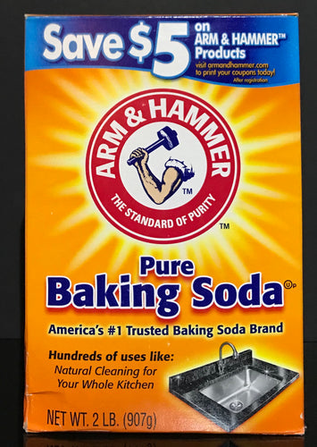 Arm & Hammer Pure Baking Soda, Odor Absorber Cleaner 2 LB