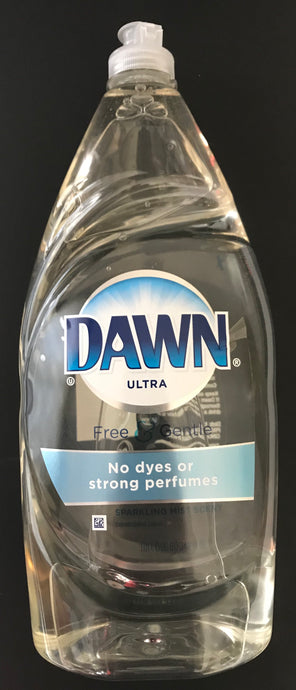 Dawn Ultra Free & Gentle Sparkling Mist Scent Dishwashing Liquid 34.2 FL OZ