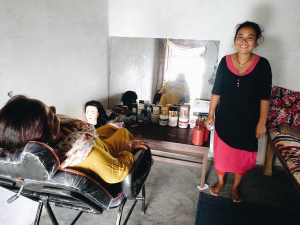Elevate helps create jobs for women through beautician training.