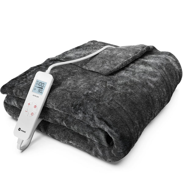 Electric Blanket - 50 x 60 inches Throw Heated Blanket with 6 Heat and 8 Time Settings
