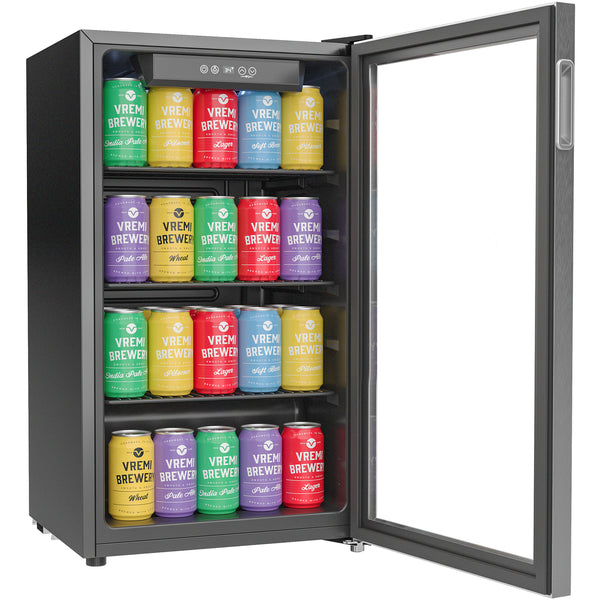 Beverage Refrigerator and Cooler - 100 to 120 Can Mini Fridge