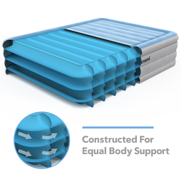 Inflatable Queen Air Mattress with Built-in Pump