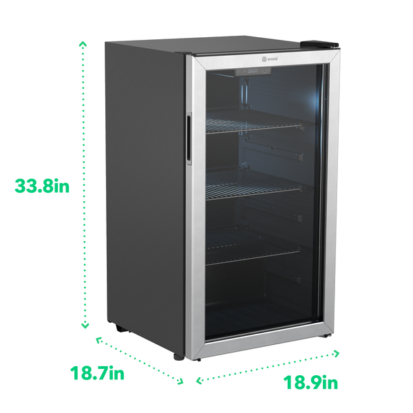 Beverage Refrigerator and Cooler - 110 to 130 Can Mini Fridge