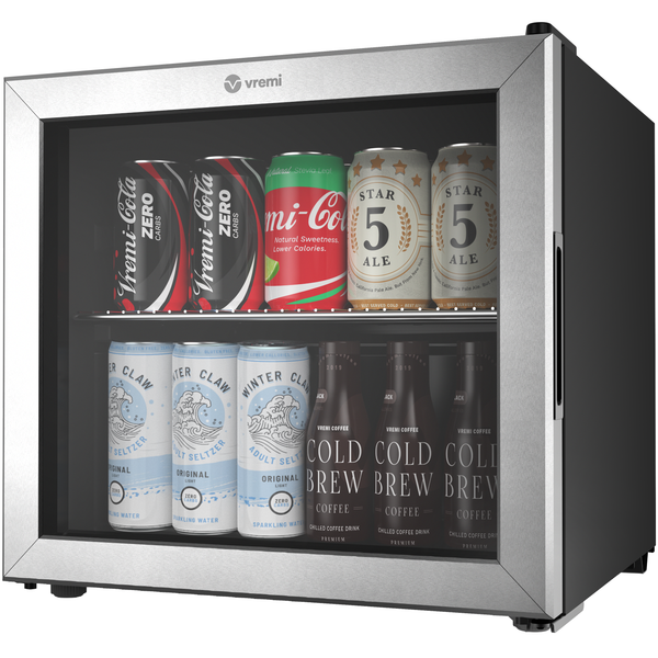 Beverage Cooler - 1.7 Cubic Feet Mini Fridge
