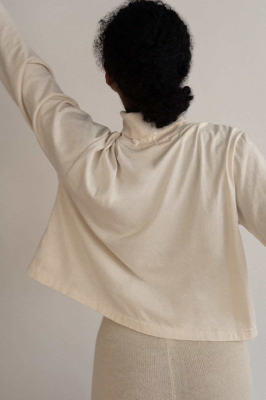 Easy Box Mockneck : Natural