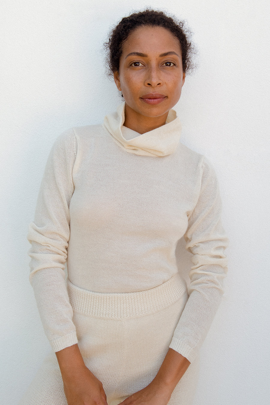 Layering Turtleneck : Bone