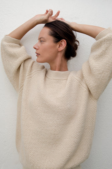 Sweatshirt Sweater : Natural