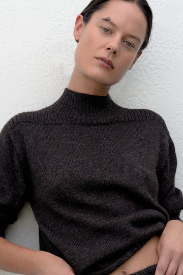 Loose Turtleneck : Charcoal