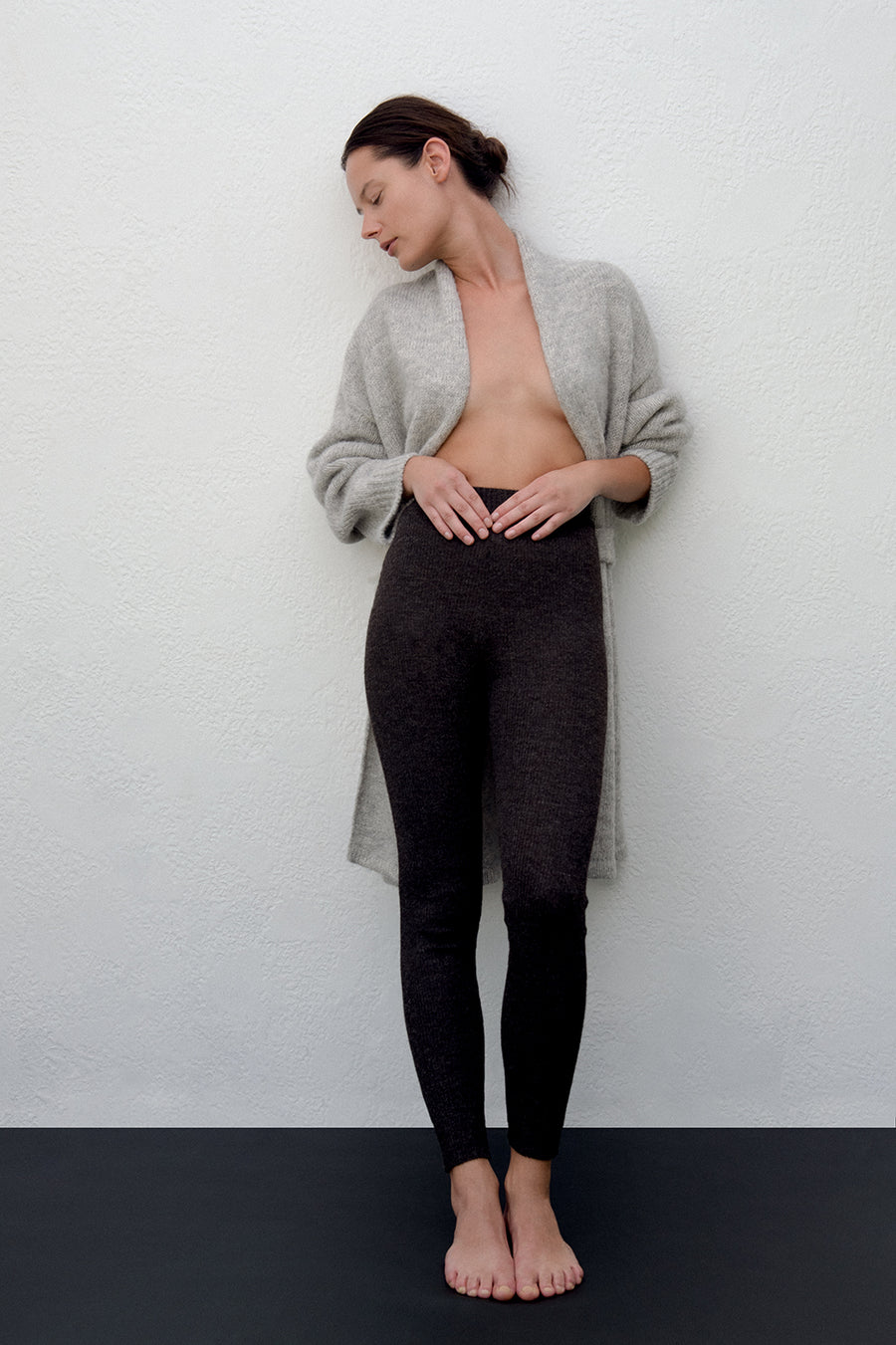 Layering Rib Legging : Charcoal