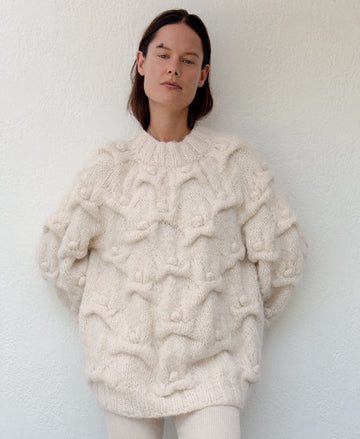 Handknit Cloud Pullover : Natural