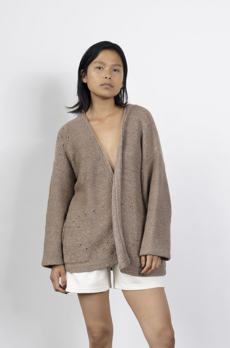Loose Cardigan : Celery Cream