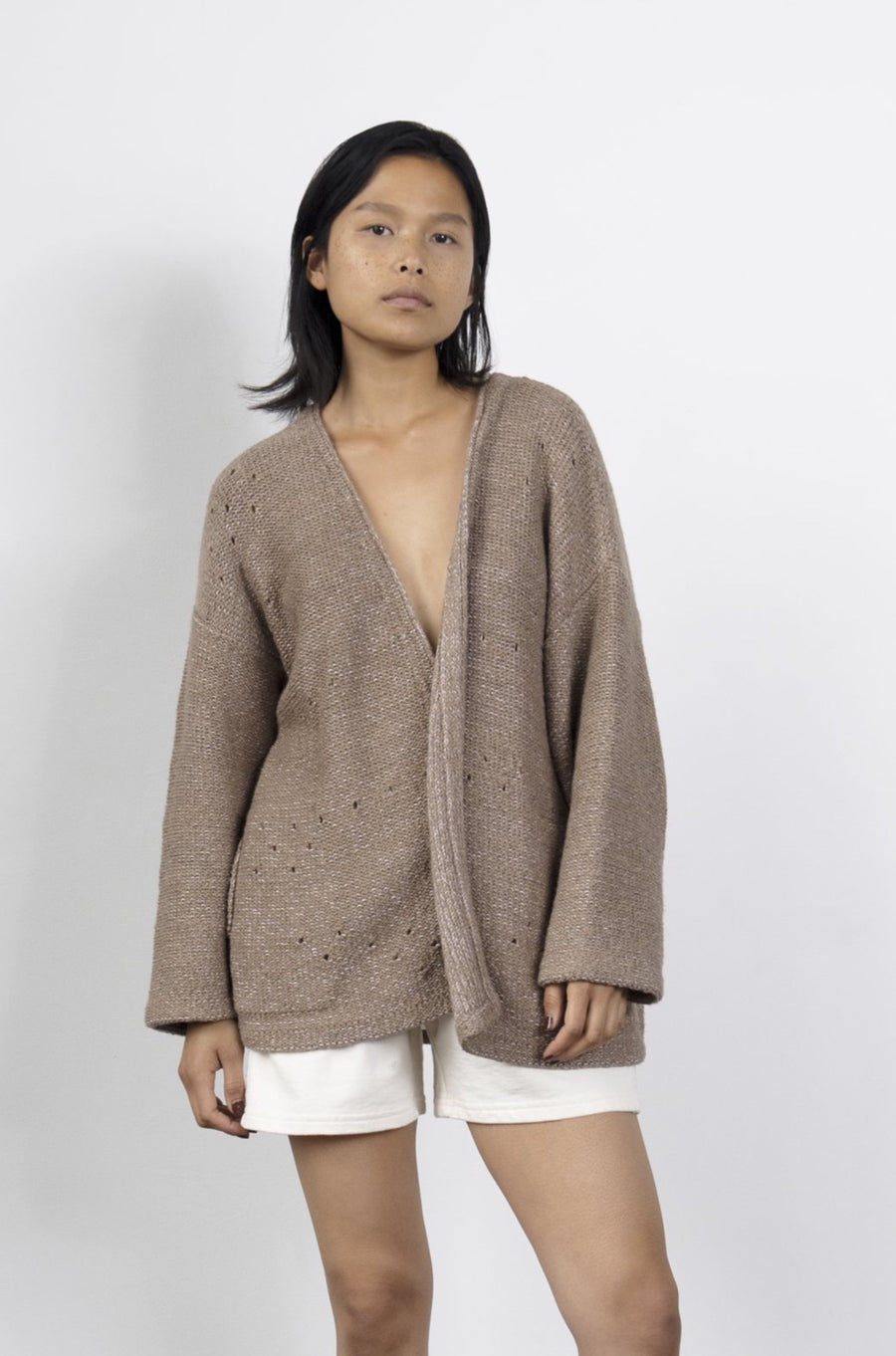 Loose Cardigan : Earthy Lilac