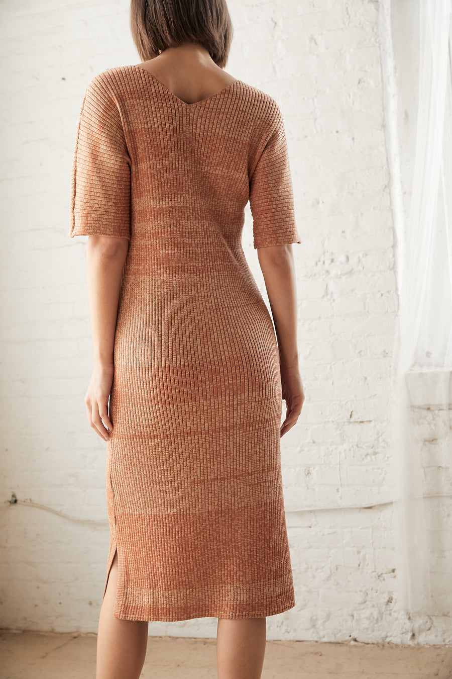 Rib Dress : Baked Clay