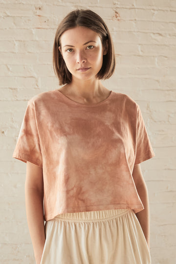 Easy Box Tee Shibori Dye : Dusty Rose