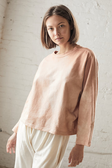 Easy Sweatshirt Shibori Dye : Dusty Rose