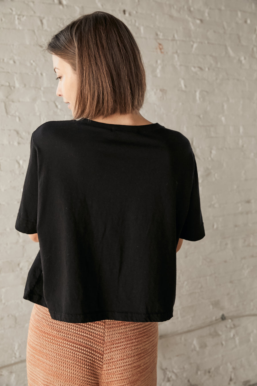 Easy Cropped Tee : Black