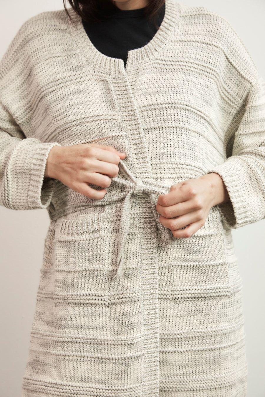Heather Cardigan : Marble