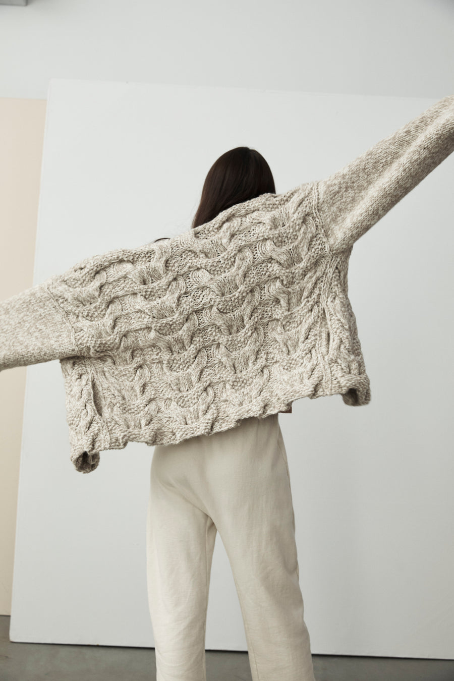 Handknit Cloud Cardigan : Moss
